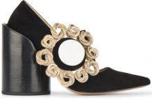 Jacquemus - Pumps 'Les Chaussures Gros Bouton' - women - Leather/Suede - 35, 36, 37, 38, 39, 40, 41 - BLACK