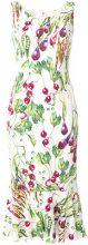 Dolce & Gabbana - Vestito godet - women - Viscose/Spandex/Elastane/Silk - 40 - GREEN