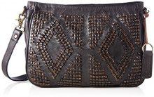 Taschendieb Td0053a - Borse a tracolla Donna, Grau (Anthrazit), 8x24x30 cm (B x H T)