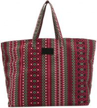 Fisico - Borsa shopper con stampa etnica - women - Cotton - OS - RED