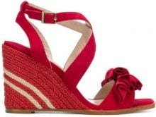 Paloma Barceló - Sandali con zeppa - women - Suede/Leather - 36, 37, 38, 39, 40 - RED
