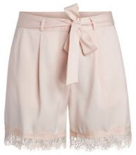PIECES High Waist Lace Shorts Women Pastel