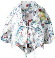 Antonio Marras - floral print kimono - women - Cotton/Polyurethane - 42, 44 - WHITE