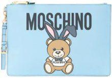 Moschino - Borsa clutch 'Playboy Teddy' - women - Polyurethane - One Size - BLUE