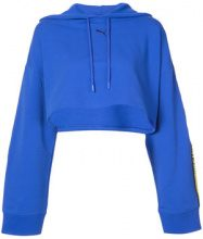 Fenty X Puma - hooded LS cropped sweatshirt - women - Cotton - XS, S, M, XXS, L, XL - BLUE