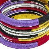 donne gioielli moda colorato filettato braccialetto fatto a mano