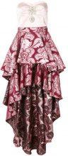 Christian Pellizzari - Abito a balze asimmetrico - women - Silk/Polyester/Acetate - 42, 44 - PINK & PURPLE