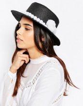 7X - Cappello di paglia con pompon