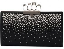 Alexander McQueen - Borsa clutch 'Knuckle' - women - Leather/Metal (Other) - One Size - BLACK