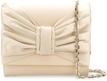 Casadei - Clutch con fiocco - women - Satin/Silk Satin/Kid Leather - OS - NUDE & NEUTRALS