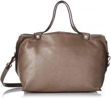 Ecco Ecco Sculptured Handbag - Henkeltasche Donna, Grau (Moon Rock), 21x25x34 cm (L x H D)