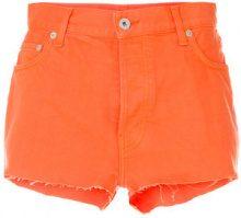 Heron Preston - raw edge short shorts - women - Cotone - 27, 28, 29 - YELLOW & ORANGE