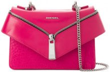 Diesel - Borsa a tracolla 'Le-XS Misha II' - women - Leather/Polyamide - One Size - PINK & PURPLE
