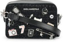 Karl Lagerfeld - Klassik Pins camera bag - women - Calf Leather/Polyamide/Wool/Polyester - One Size - BLACK