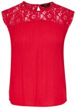 ONLY Lace Sleeveless Top Women Red