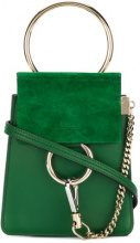 Chloé - Borsa Faye Small - women - Calf Leather/Calf Suede - OS - GREEN
