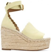 Chloé - Lauren espadrille sandals - women - Suede/Leather - 36, 40, 41, 37, 38, 39 - YELLOW & ORANGE