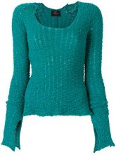 Lost & Found Ria Dunn - long-sleeve fitted sweater - women - Polyamide - XS, S, L - GREEN