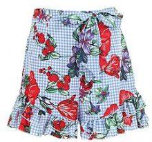 Lulu pantaloncini stampati con balze sul fondo allacciati in vita