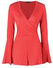 Jaqueline Flare Sleeve Wrap Playsuit
