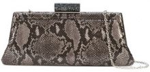 Inge Christopher - snake-effect clutch - women - Leather - OS - GREY