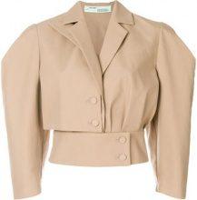 Off-White - Giacca con maniche a 3/4 - women - Cotton - 40, 42 - NUDE & NEUTRALS