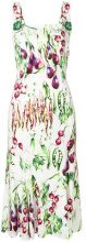 Dolce & Gabbana - Vestito midi con stampa verdura - women - Viscose/Spandex/Elastane/Silk/Polyamide - 40, 42, 44, 46 - WHITE