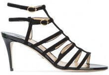 Paul Andrew - double ankle strap sandals - women - Suede - 36.5, 37, 38, 38.5, 39, 40 - BLACK