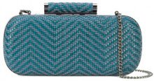 Inge Christopher - small woven clutch bag - women - Straw - OS - Blu