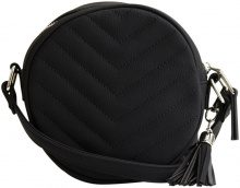 OBJECT COLLECTORS ITEM Quilted, Round Bag Women Black