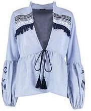 KAYLEY Kimono a righe ricamata
