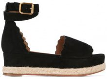 Chloé - Lauren espadrille wedges - women - Calf Leather/Leather - 37, 39, 35, 36, 40, 41 - BLACK