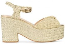 Castañer - Xilema wedge espadrilles - women - Leather/Metallic Fibre/rubber - 39, 40, 41 - Metallizzato