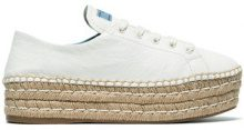 Prada - Espadrillas con suola rialzata - women - Leather/rubber - 38, 39.5, 41 - Bianco