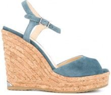 Jimmy Choo - Sandali 'Perla' con zeppa - women - Calf Leather/Leather/rubber - 36, 37, 38.5 - BLUE