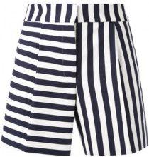 Thom Browne - striped mini shorts - women - Silk/Cotton - 40, 42, 44 - BLUE