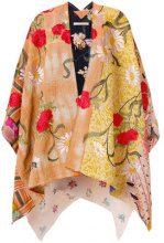 Ermanno Gallamini - Mantella con ricamo a fiori - women - Cotton/Viscose - OS - YELLOW & ORANGE
