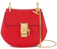 Chloé - Drew shouler bag - women - Lamb Skin/Calf Suede - One Size - RED