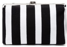 Proenza Schouler - Asymmetrical Frame Clutch - women - Viscose/Polyester/Polyimide/Polyurethane - One Size - BLACK