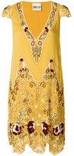 Aniye By - Abito con ricami di paillettes - women - Viscose/Polyester - XS, S - YELLOW & ORANGE