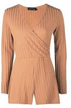 Anika Ribbed Wrap Over Playsuit