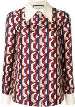 Gucci - Camicia con stampa mini catene - women - Silk - 44, 46, 42 - MULTICOLOUR