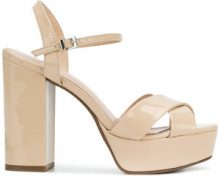 Schutz - Sandali con plateau - women - Leather/rubber - 37, 38, 39, 40 - NUDE & NEUTRALS