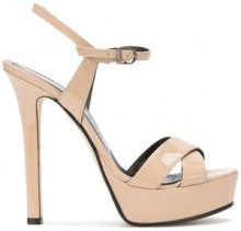 Marc Ellis - Sandali con plateau - women - Leather/Patent Leather - 38, 39, 40 - Color carne & neutri