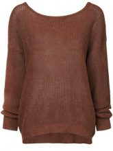 Cityshop - classic long-sleeve sweater - women - Cotton/Paper/Rayon - OS - BROWN