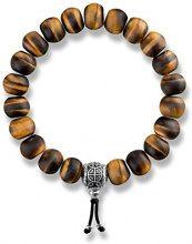 Thomas Sabo donna marrone 925occhio di tigre ciondolo in argento Sterling, lunghezza 16cm A1703–826–2-l16
