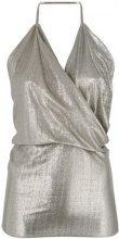 Rick Owens Lilies - Top con scollo drappeggiato - women - Polyamide - 42, 40, 44 - Metallizzato