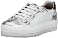DieselLenglas S- Andyes W - Sneake Y01253 - Low-Top Donna, Multicolore (Mehrfarbig (White/Silver)), 37