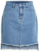 VILA High Waisted Denim Skirt Women Blue