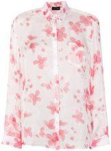 Emporio Armani - Camicia con stampa a fiori - women - Silk - 38, 40, 42, 44 - PINK & PURPLE